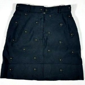 THOM BROWNE Purse Embroidered Mini Skirt